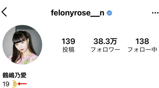 鶴嶋乃愛Instagram