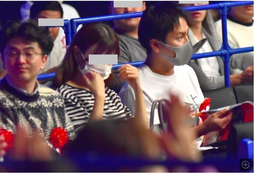 K-1の観戦に来た狩野英孝と彼女