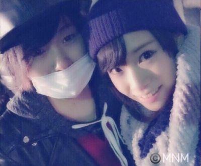 マホトと市川愛美の2ショット写真